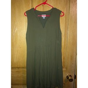 Old navy, olive green dress, size large. Worn once